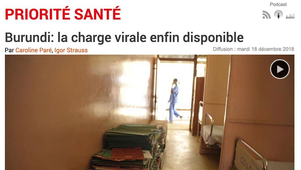 RFI – Priorité Santé, 2018 : Burundi: la charge virale enfin disponible