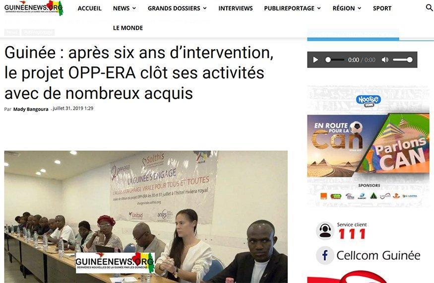 Guinée : après six ans d'intervention, le projet OPP-ERA clôt ses activités avec de nombreux acquis